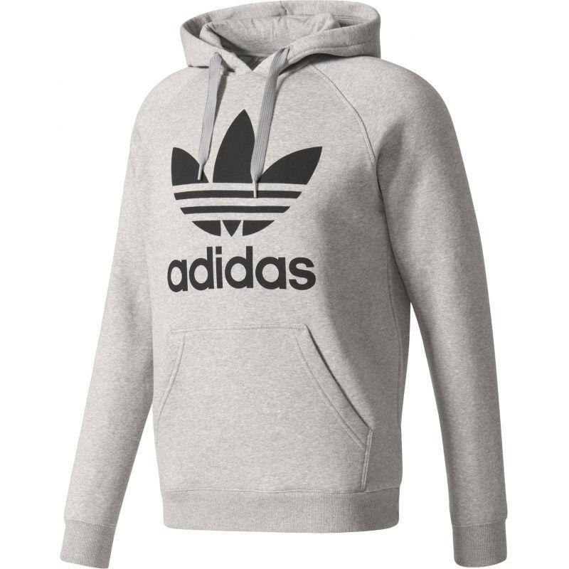 Adidas hood - šedá - XL