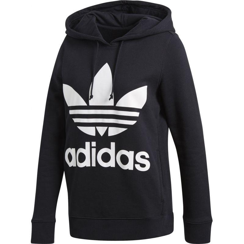 Adidas trefoil hoodie - černá - 34