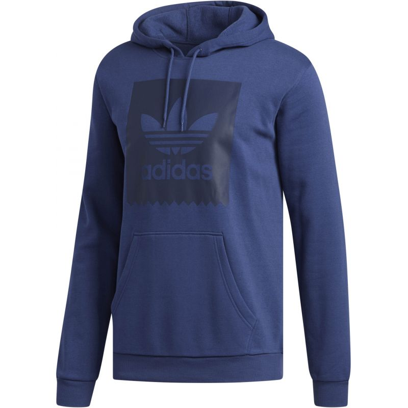 Adidas trefoil solid hoodie - modrá - L