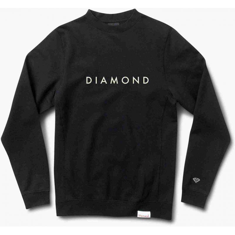 MIKINA DIAMOND FUTURA CREWNECK - černá - XL