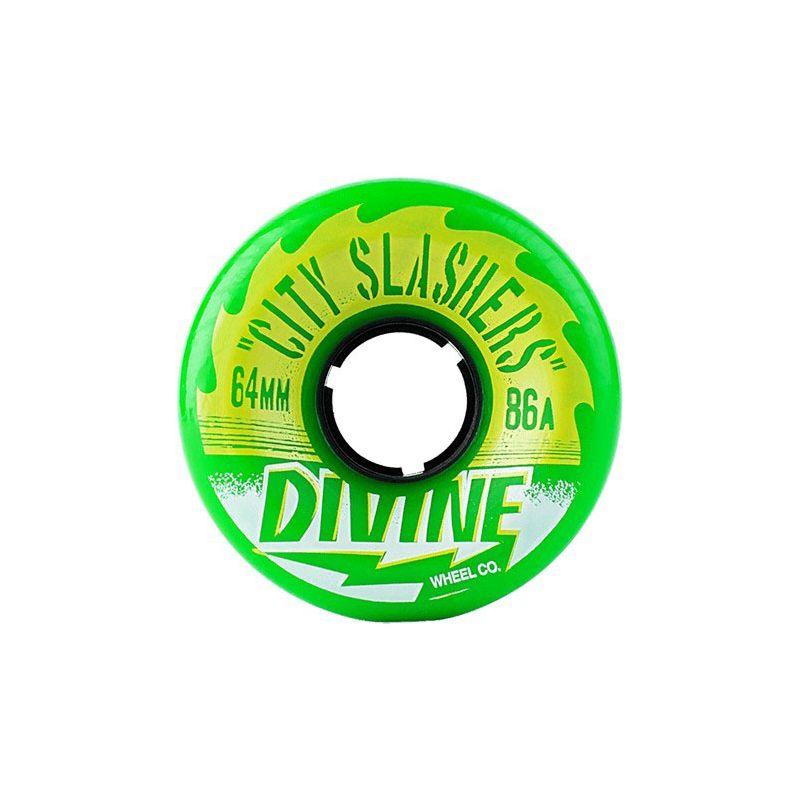 SK8 KOLA DIVINE CITY SLASHER - elektrická zelená (GRN) - 86A/64mm