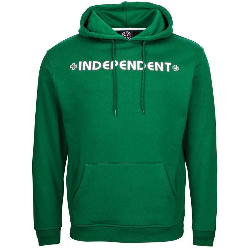 MIKINA INDEPENDENT Bar Cross Hood - zelená - L