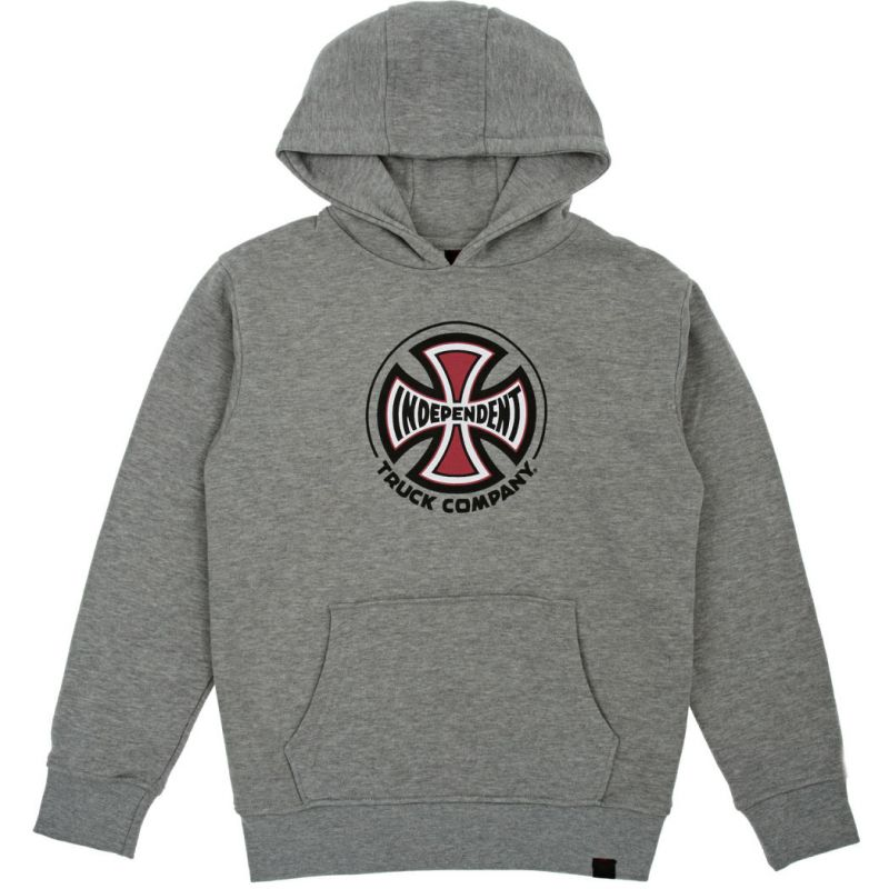 INDEPENDENT TRUCK CO HOOD MIKINA - šedá (HEA-GRY) - XL