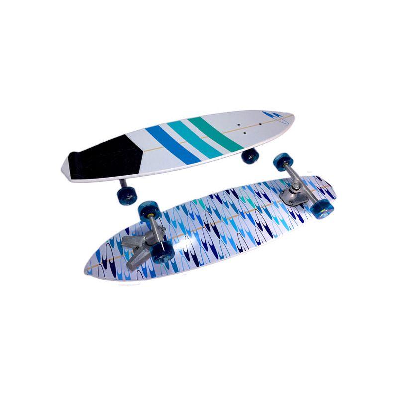 LONGBOARD SURFSKATE STUNNER OCEAN - bílá