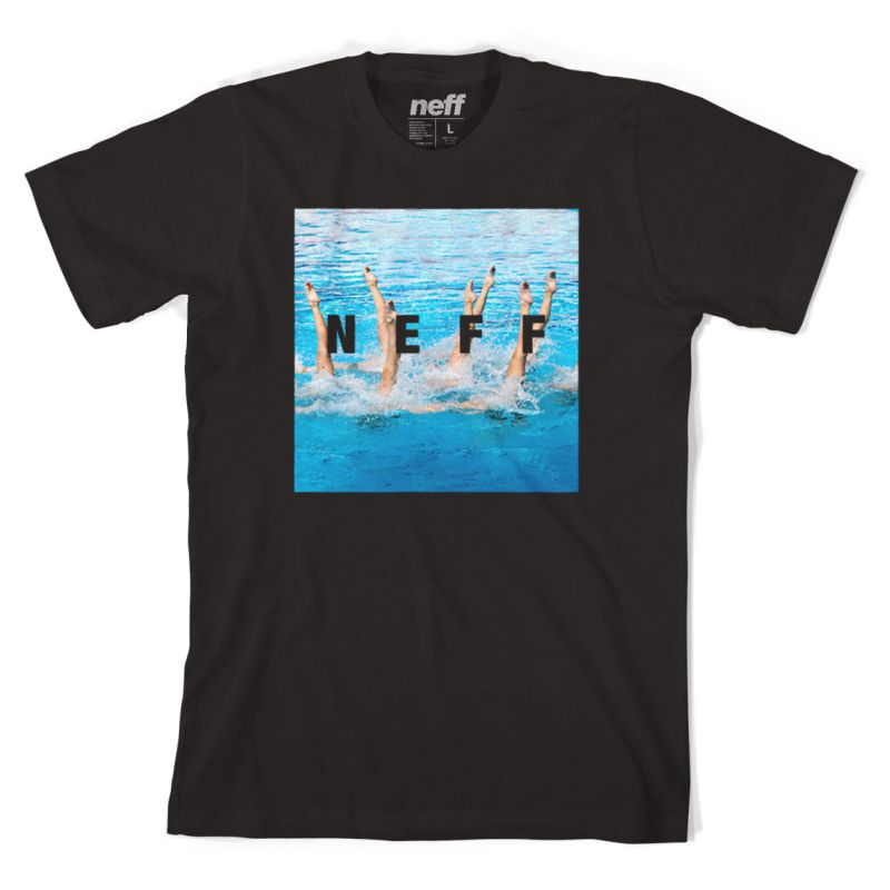 Neff swims quare - černá - L