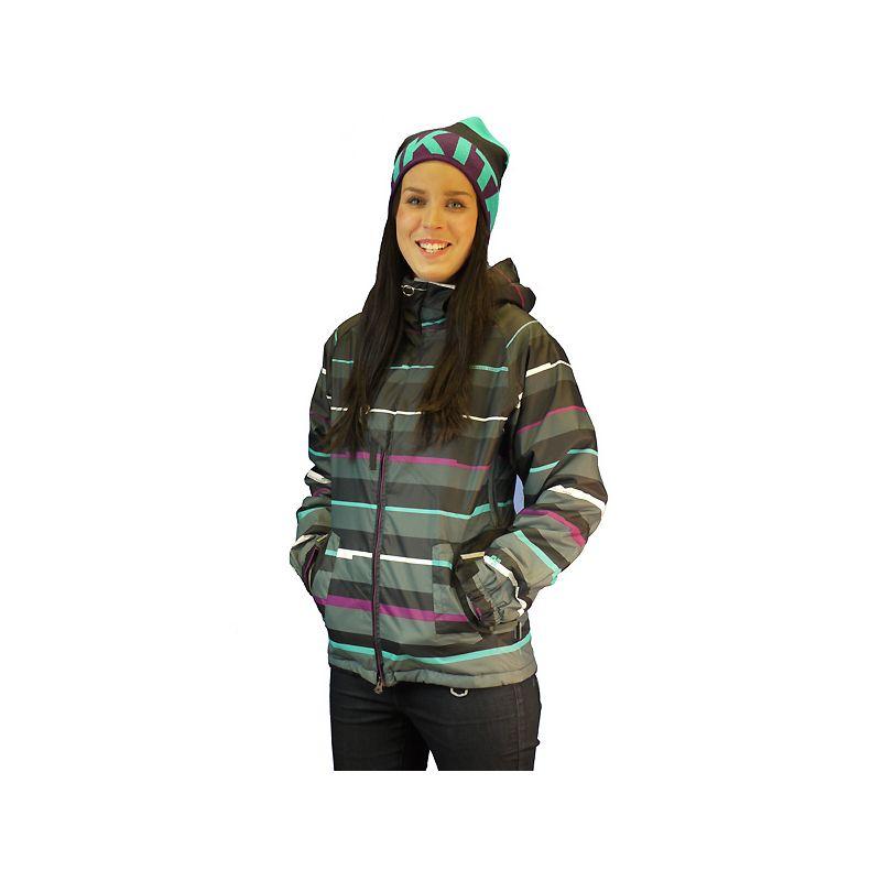 NUGGET MANON WMS SNOWBOARD BUNDA - antracitová (STR-PRI) - S