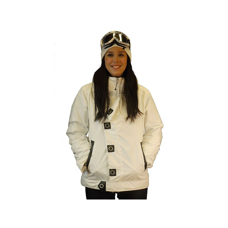 BETTY RIDES PUNK NIKKI SNOWBOARD BUNDA - bílá (WHT) - M