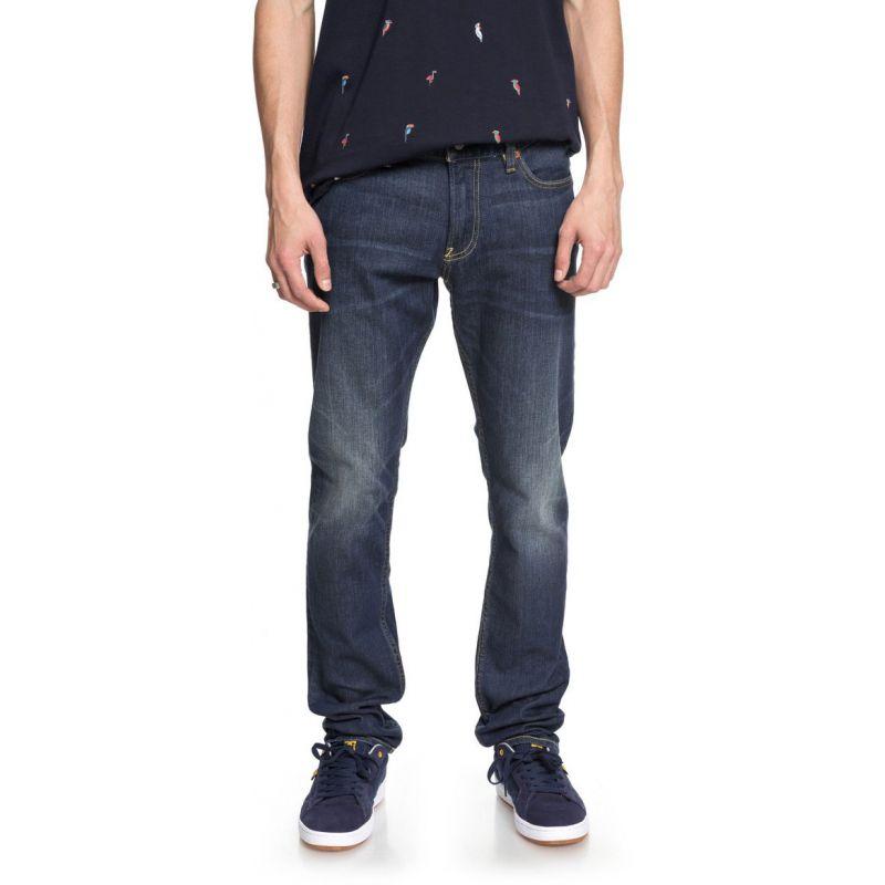 DC kalhoty dc worker slim sms - modrá - 32