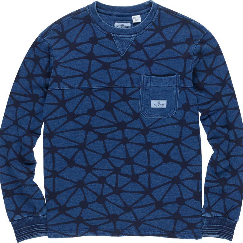 Element indigo fleece - modrá - M
