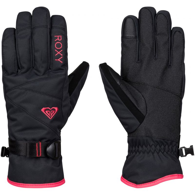 RUKAVICE ROXY JETTY SOLID GLOVES - černá (KVJ0) - M