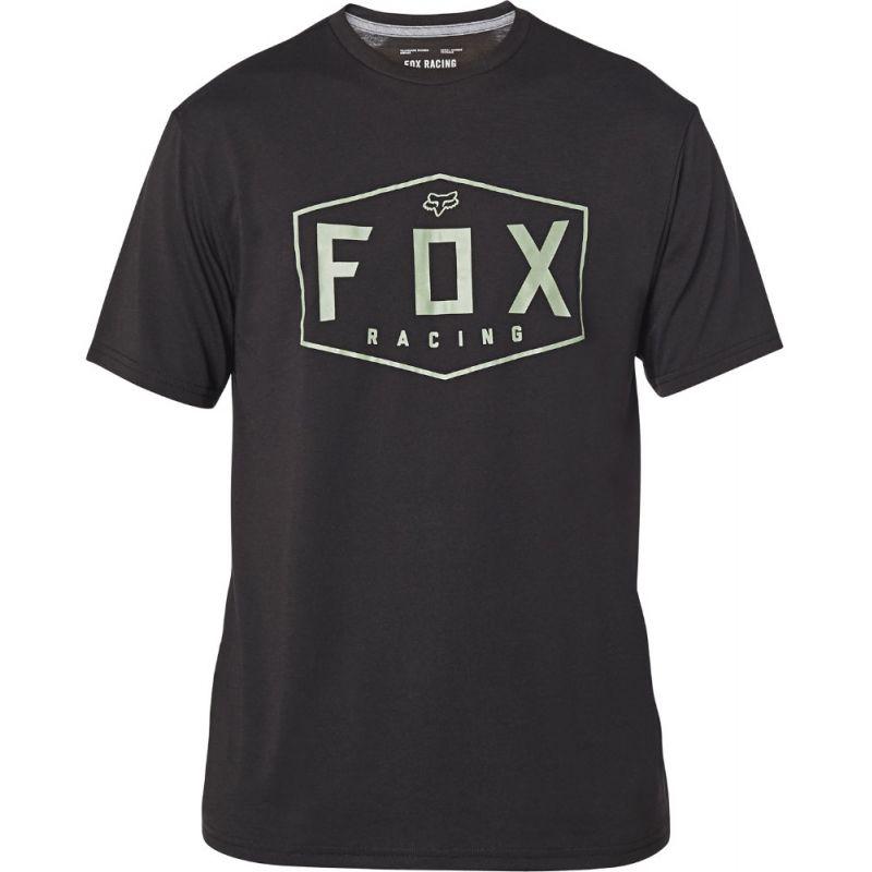 TRIKO FOX Crest Tech S/S - černá - L