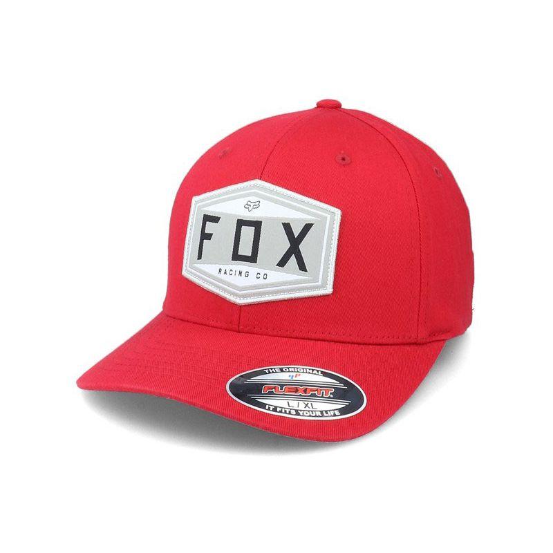 KŠILTOVKA FOX Emblem Flexfit - červená - L/XL
