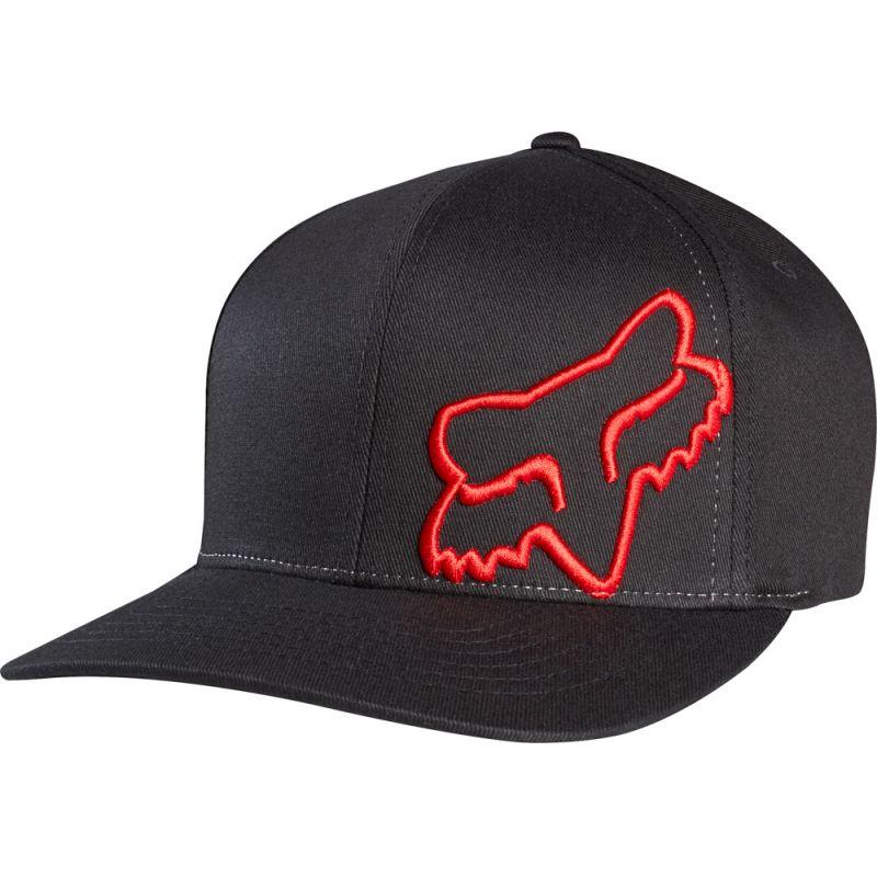KŠILTOVKA FOX FLEX 45 FLEXFIT - černá (BLK-RED) - L/XL