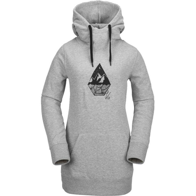 MIKINA VOLCOM Costus Pullover Fleece WMS - šedá - L