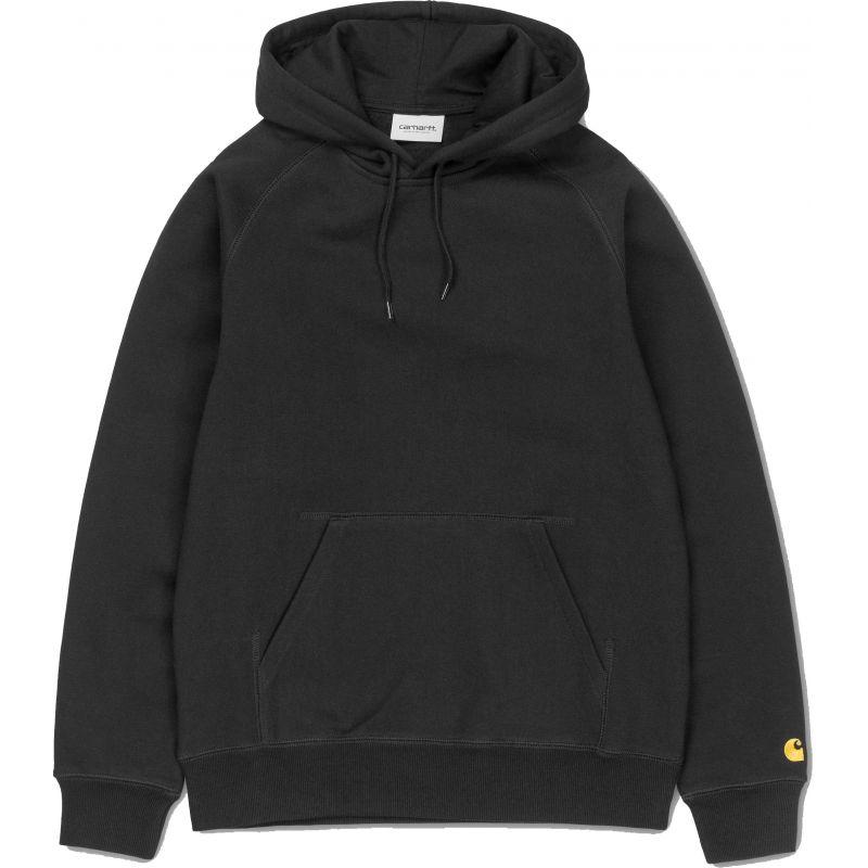 Carhartt hooded chase hd - černá - L