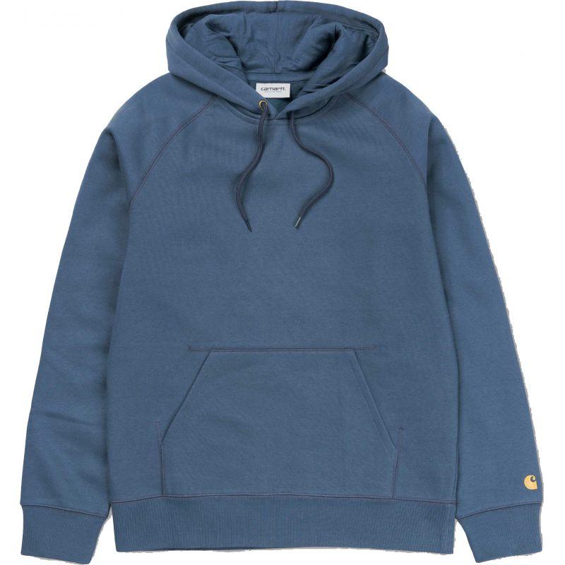 Carhartt hooded chase hd zip - modrá - M
