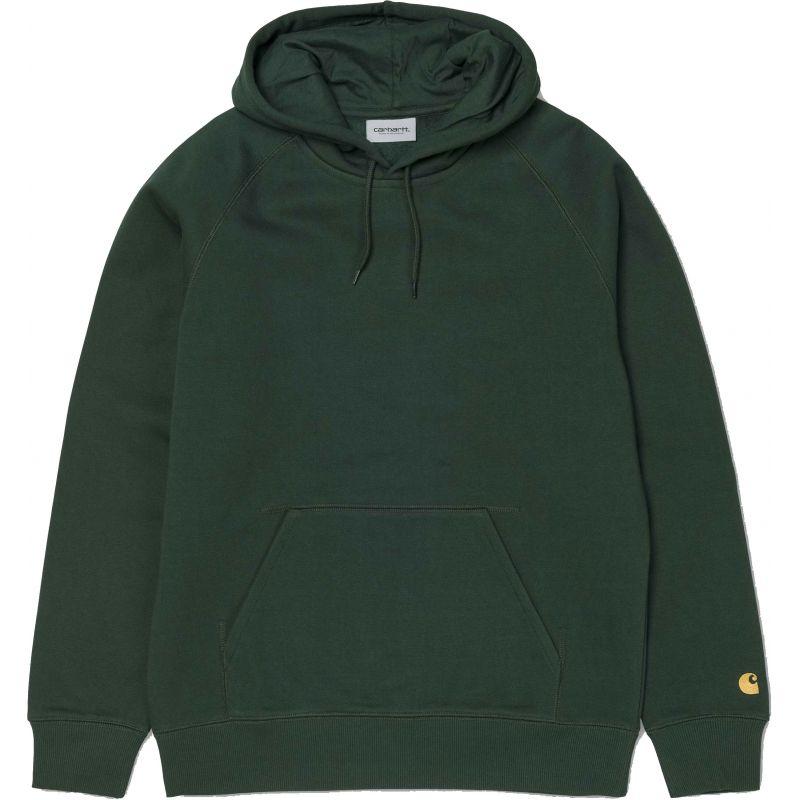Carhartt hooded chase hd - zelená - M