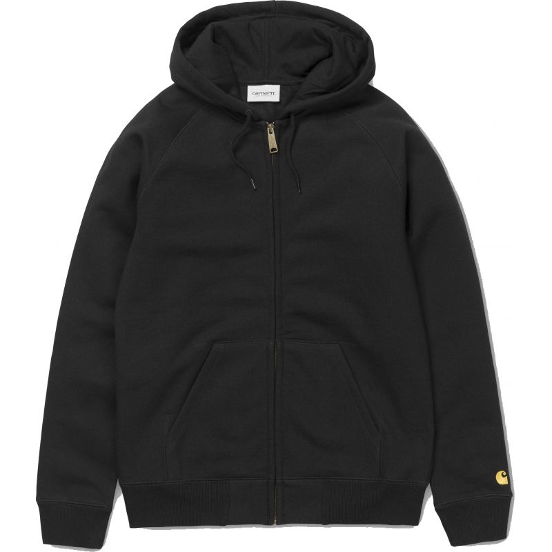 Carhartt hooded chase hd zip - černá - L