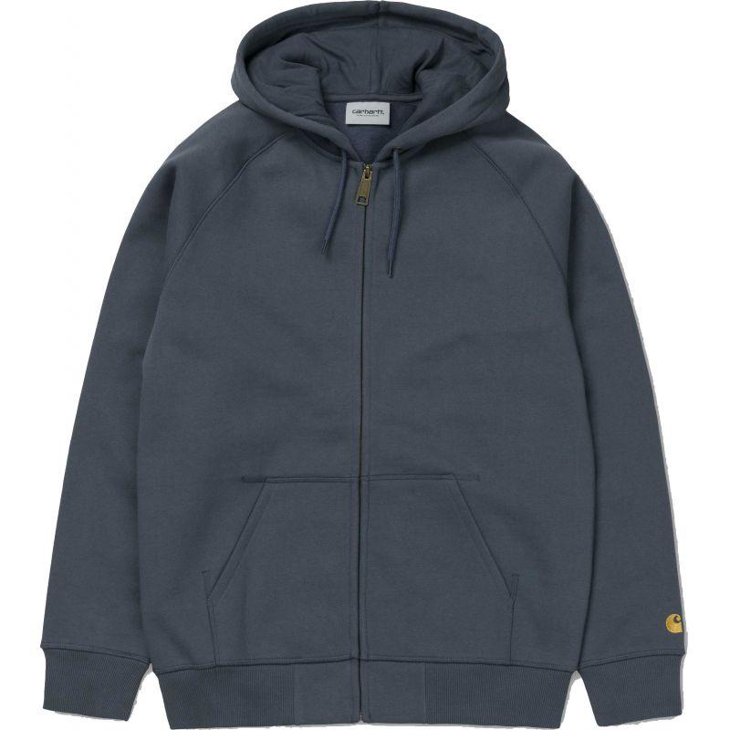 Carhartt hooded chase hd zip - modrá - L