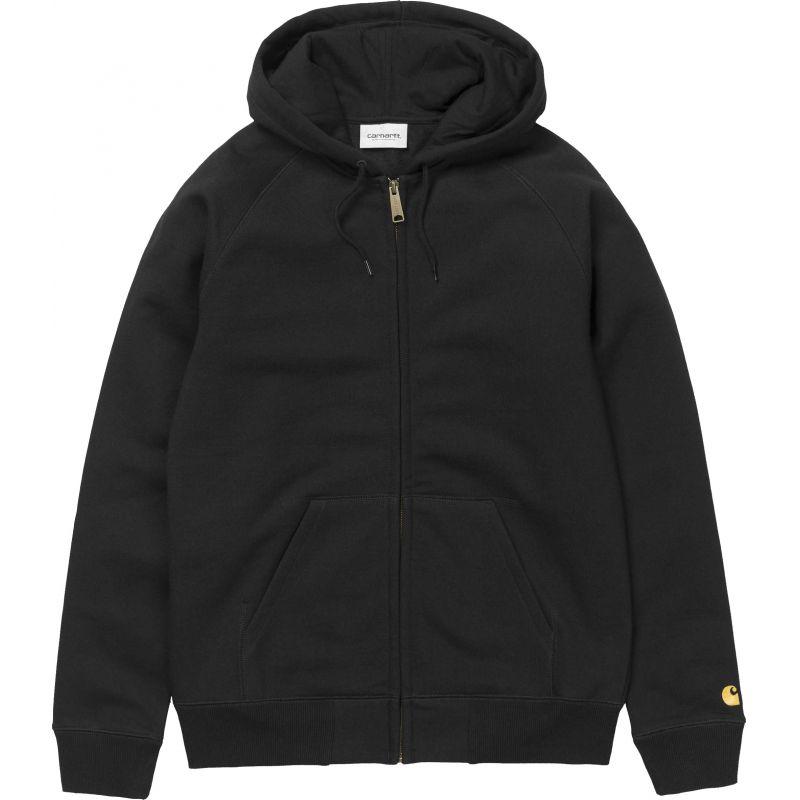 Carhartt hooded chase - černá - L