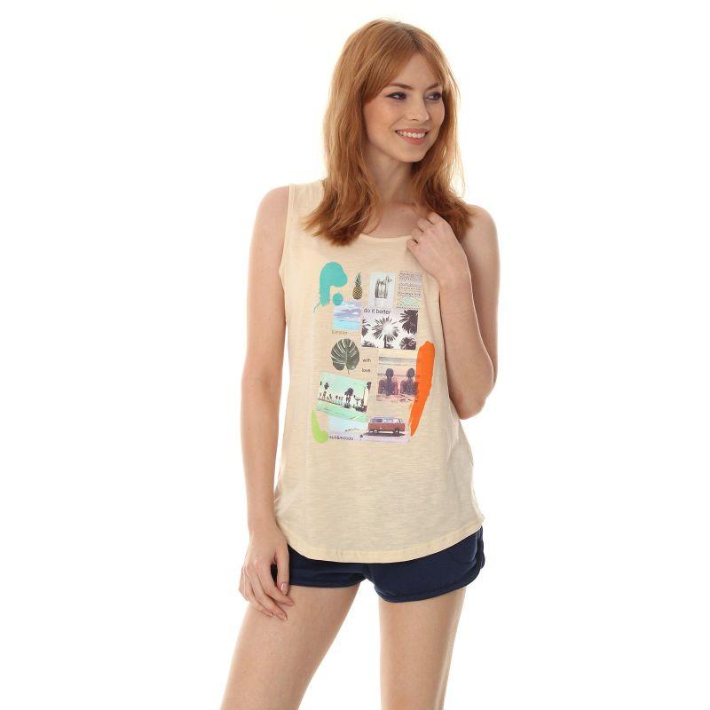 Moodo moodo triko - krémová - XL