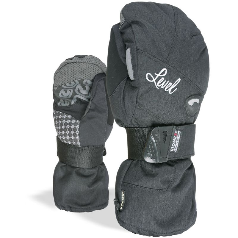 RUKAVICE LEVEL HALF PIPE MITT WMS GORE-T - antracitová (BLK) - M