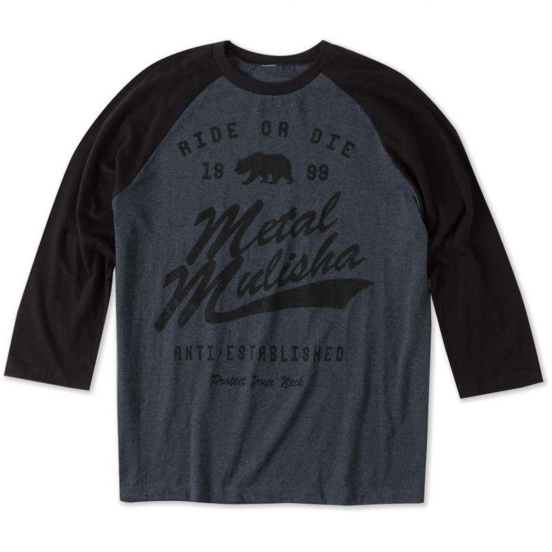Metal Mulisha neck raglan - modrá - S