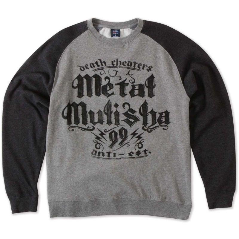 Metal Mulisha ninety nine raglan crew - šedá - XL
