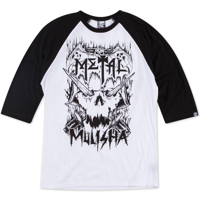 METAL MULISHA METAL HEAD RAGLAN LS TRIKO - bílá (BLK) - XL