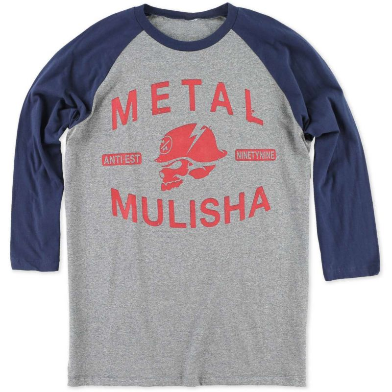 Metal Mulisha flash - šedá - XL