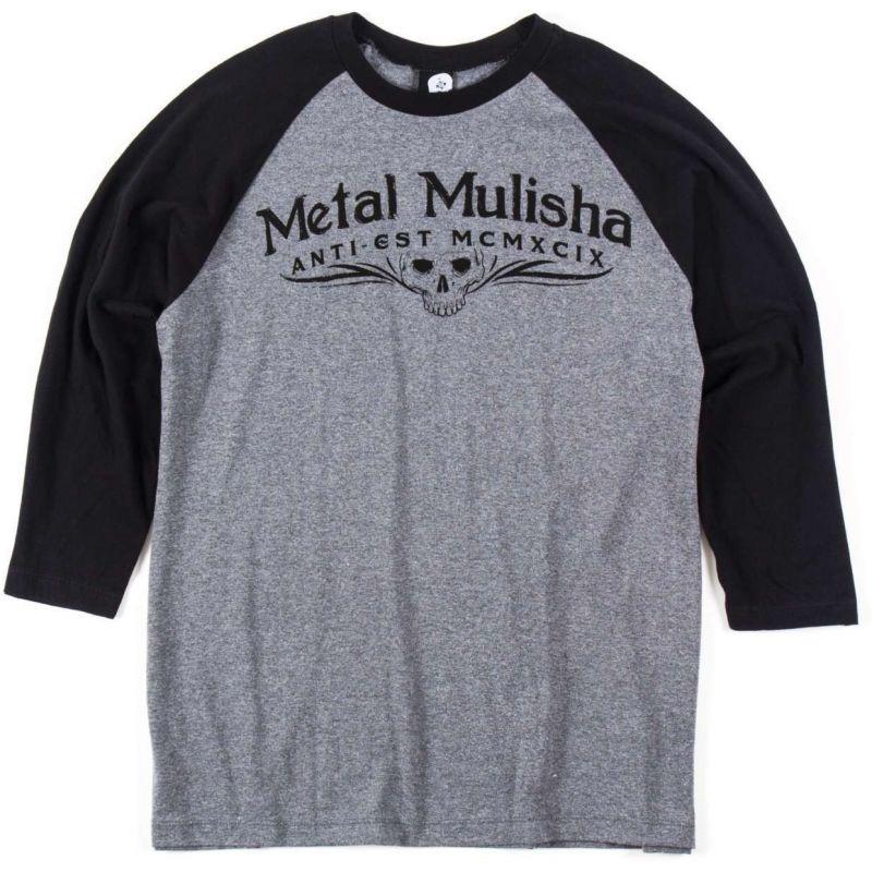 Metal Mulisha classic raglan - šedá - L