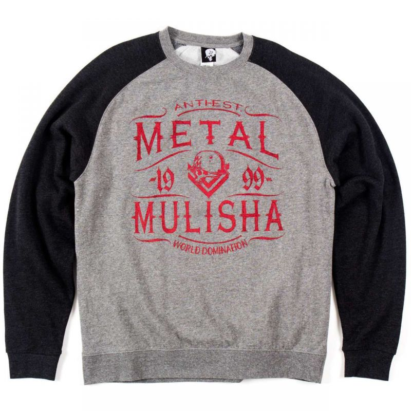 Metal Mulisha scotch - šedá - XL