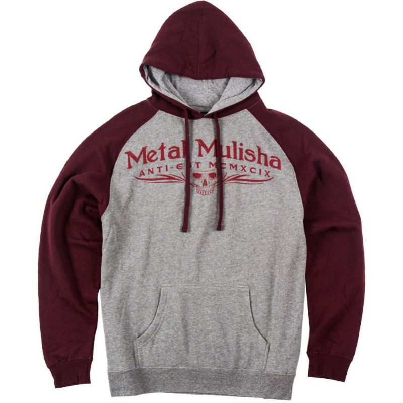 Metal Mulisha classic po - šedá - L