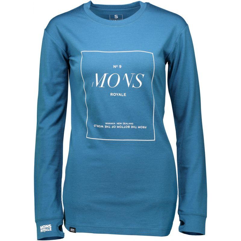 Mons Royale boyfriend - modrá - XS