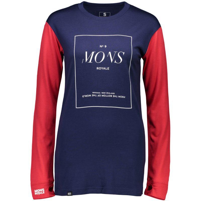 Mons Royale boyfriend - modrá - S