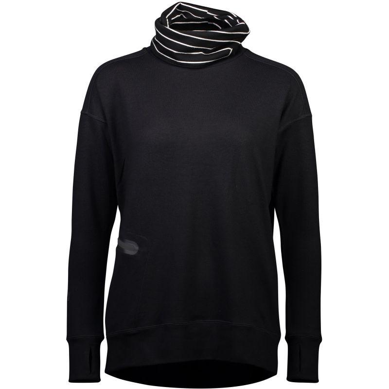 MERINO MIKINA CORTINA HIGH NECK BLACK - černá - S