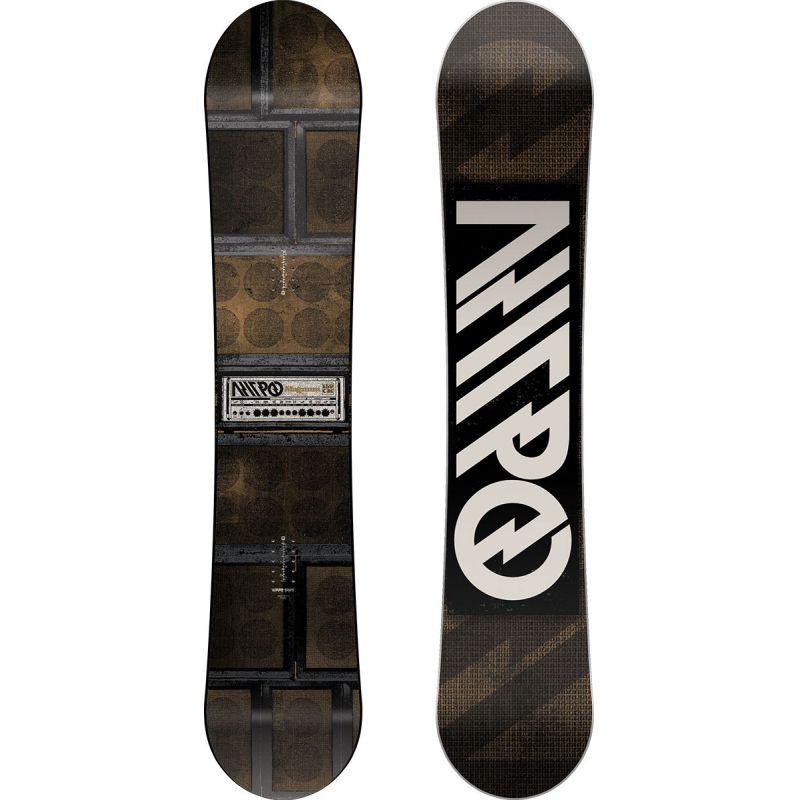 SNOWBOARD NITRO 17 MAGNUM - šedohnědá (165) - 165