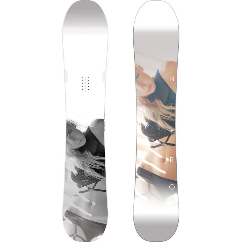 SNOWBOARD NITRO 17 SMP - bílá (158) - 158
