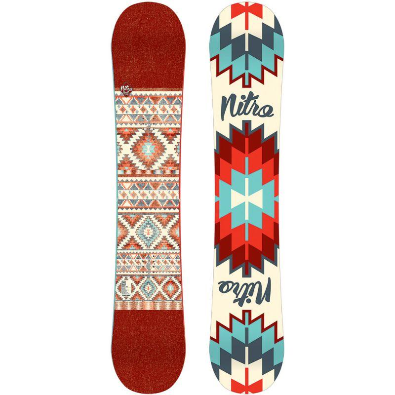 SNOWBOARD NITRO 15 SPELL - karmínová (148) - 148
