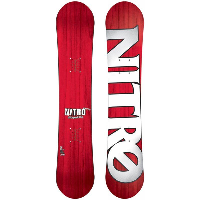 SNOWBOARD NITRO 15 RIPPER YOUTH - červená - 146