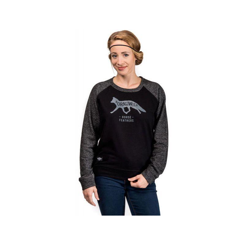 Horsefeathers lottie sweatshirt - černá - L