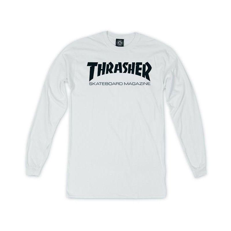 TRIKO THRASHER SKATE MAG L/S - bílá - L