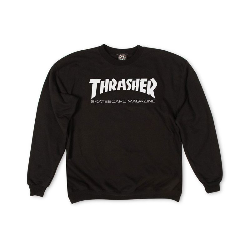 MIKINA THRASHER SKATE MAG CREW - černá (BA) - L