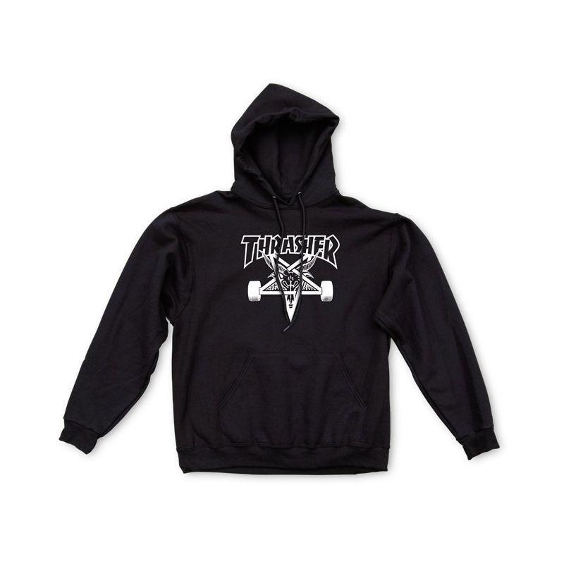MIKINA THRASHER SKATE GOAT HOOD - černá (BA) - XL