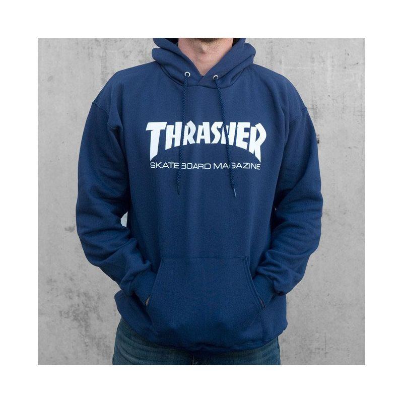 MIKINA THRASHER SKATE MAG HOOD - modrá - XL
