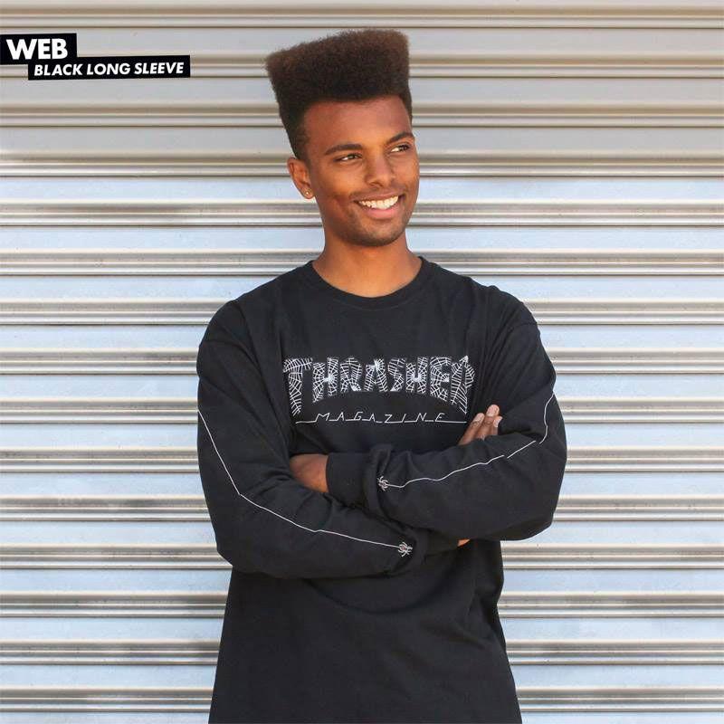 Thrasher web - černá - L