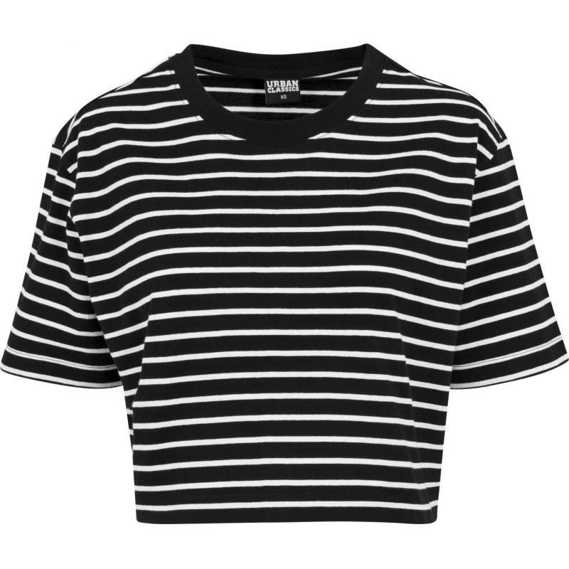Urban Classics striped - černá - M